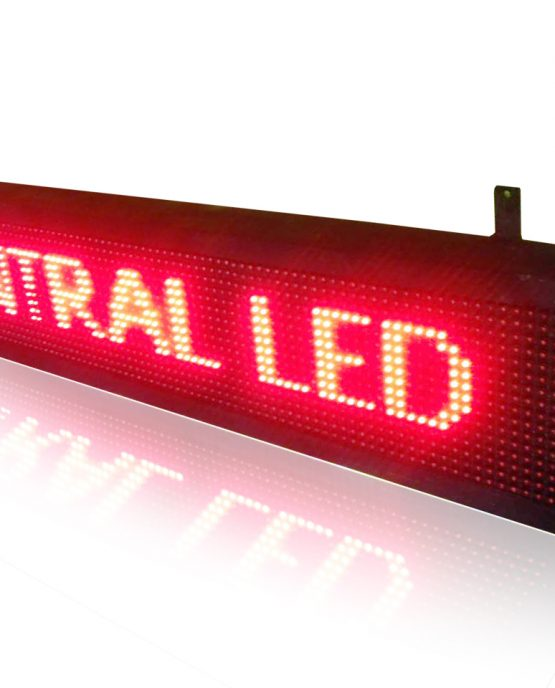 running text merah, running text 16x96, modul p10, led display red