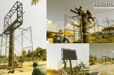 Pembangunan Videotron Outdoor Full Color P.10 di Kab. Brebes, Jawa Tengah