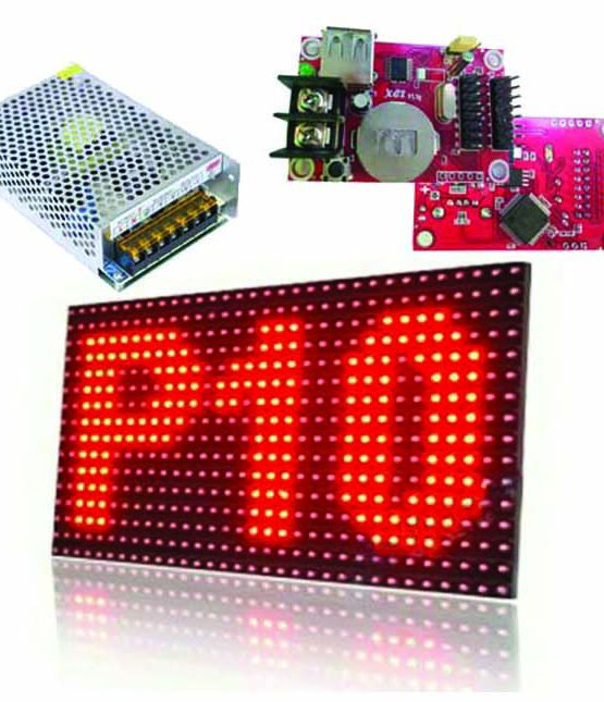 diy kit, runnnig text, led p10, power supply, controller led, led modul