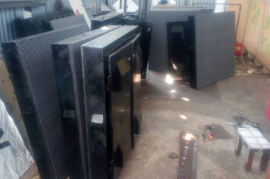 Pengiriman Unit Videotron di Jayapura