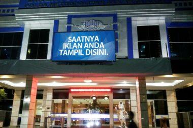 Pembanguan Videotron di Polda Metro Jaya